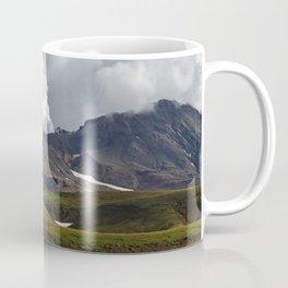 Autumn view of active volcano on Kamchatka Peninsula Coffee Mug