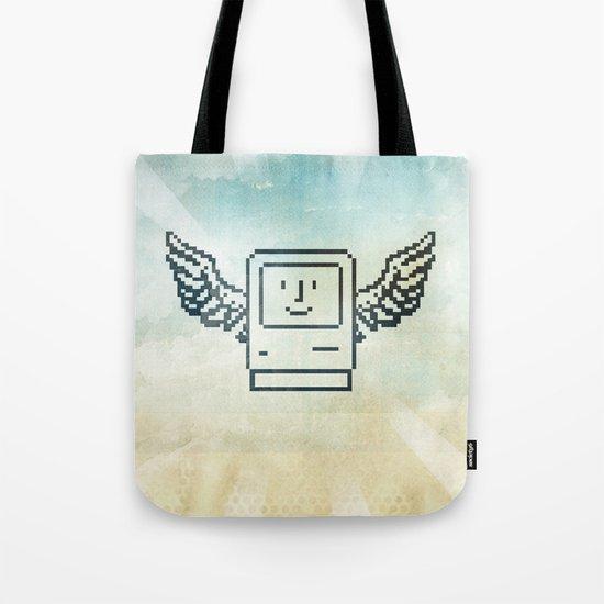 pixel mac with wings Tote Bag
