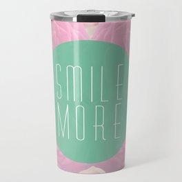 Smile more Travel Mug