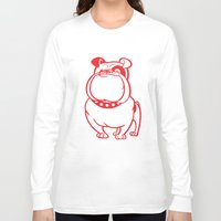 bulldog Long Sleeve T-shirts featuring Bulldog by Studio Drawgood