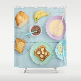 Fench toast breakfast Shower Curtain