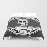 sons of anarchy Duvet Covers featuring Sons of Archie by Monster Mike