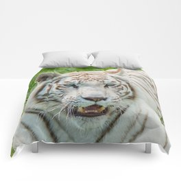 THE BEAUTY OF WHITE TIGERS Comforters