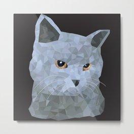 Low poly british cat Metal Print