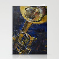 trumpet Stationery Cards featuring Trumpet by Michael Creese