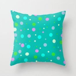 Simply Midnight Dots Throw Pillow