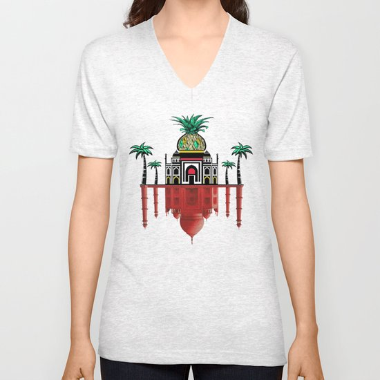 pineapple architecture 2 Unisex V-Neck