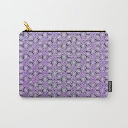 Geometric Florals Purple Carry-All Pouch