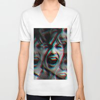 psycho V-neck T-shirts featuring PSYCHO by Inception of The Matrix