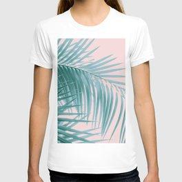 Palm Leaves Blush Summer Vibes #3 #tropical #decor #art #society6 T-shirt