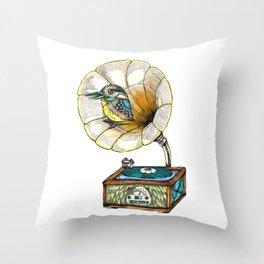 Bird Singer Throw Pillow