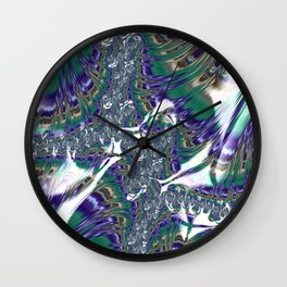 Multicolored Abstract Fractal Wall Clock