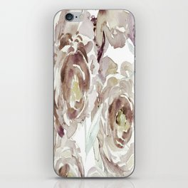 Earthy Painterly Floral Abstract iPhone Skin