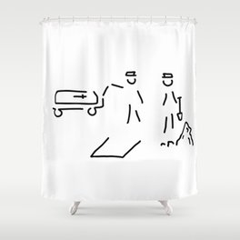 burial funeral parlour Shower Curtain
