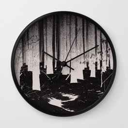 Winter Forest Wall Clock