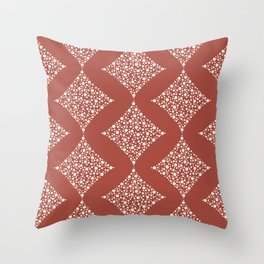 Marsala Dotted Diamonds Throw Pillow
