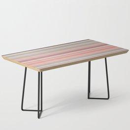 Pink Peach Pastel Stripe Design Coffee Table