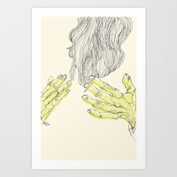 palms Art Prints featuring Palms by Alec Goss