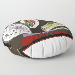 Nara Japanese Lunch Platter Floor Pillow