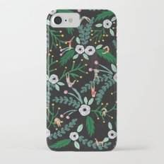 Black floral iPhone 7 Slim Case