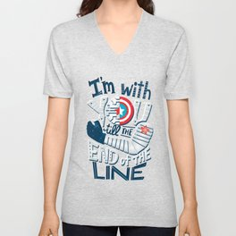 Till the end of the line Unisex V-Neck
