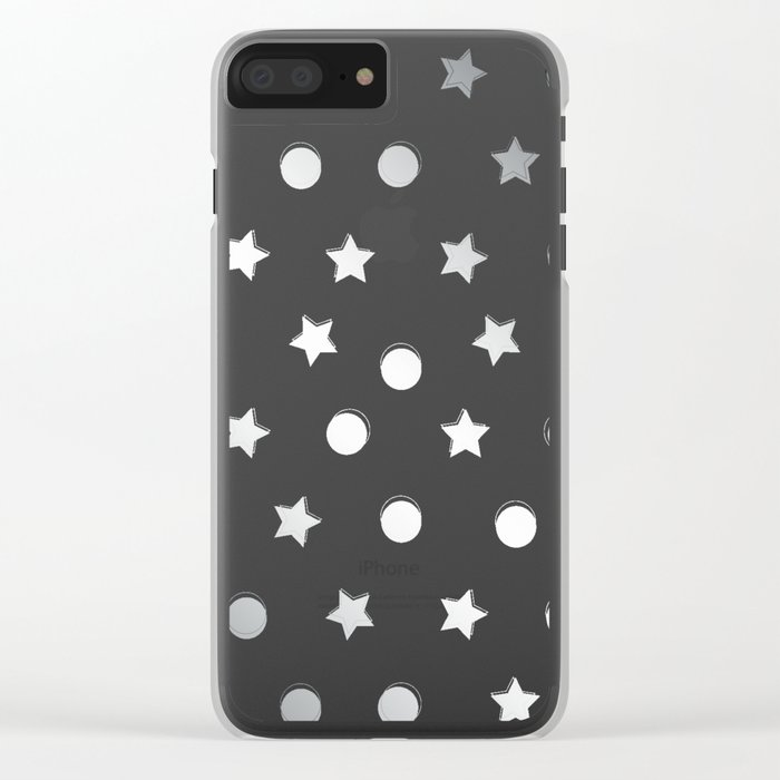 Silver Confetti Clear iPhone Case