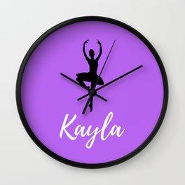 Kayla - Dancer - Light Purple Wall Clock