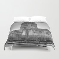 liverpool Duvet Covers featuring Liverpool Cathedral by Abi Booth