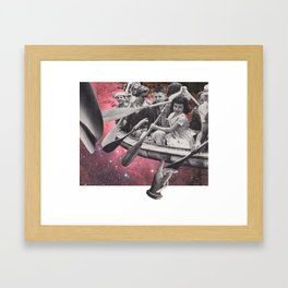 39 - just keep paddling Framed Art Print