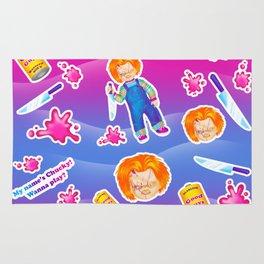 1997 Neon Rainbow Evil Murder Good Guy Doll Rug