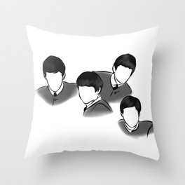 The Fab Four Rock Icon Silhouettes Throw Pillow