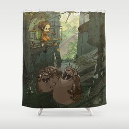 Casey in the Warehouse Shower Curtain