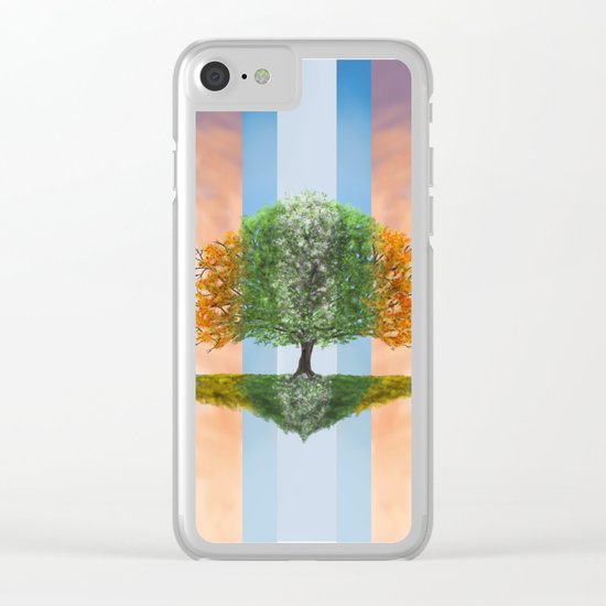 Seasons Clear iPhone Case