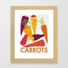 Eat Your Veggies - Carrots Framed Art Print