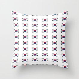 flag of south korea 2 -korea,asia, 서울특별시,부산광역시, 한국,seoul Throw Pillow