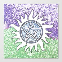 supernatural Canvas Prints featuring Supernatural by Beastie Toyz