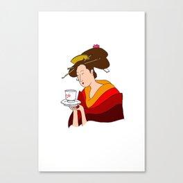 Morning Cha Canvas Print
