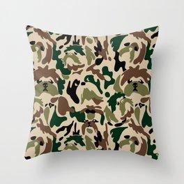 Shih Tzu Camouflage Throw Pillow