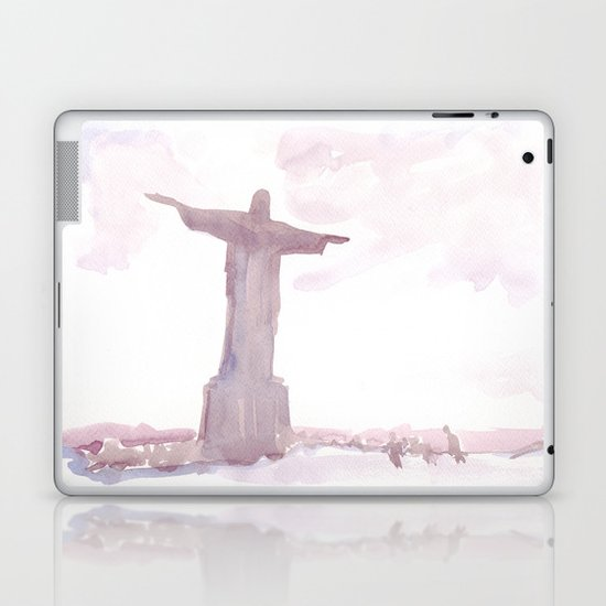 Watercolor landscape illustration_Rio Laptop & iPad Skin