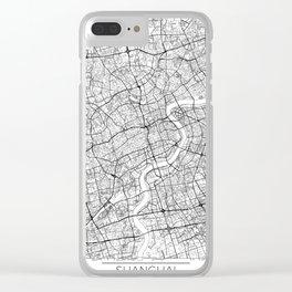 Shanghai Map White Clear iPhone Case