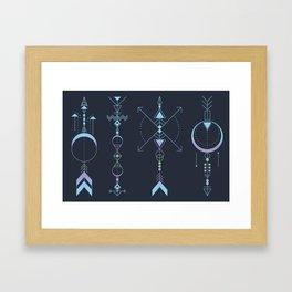 Geometric Arrows - Native American Sioux Framed Art Print