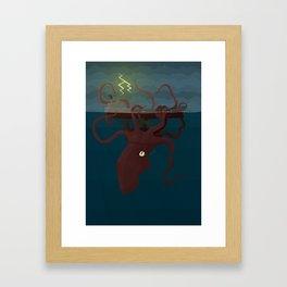 The Modern Kraken Framed Art Print