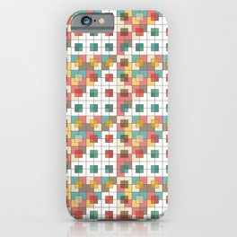 Semi-transparent squares iPhone Case