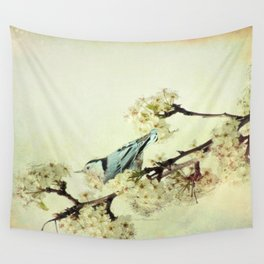 Nuthatch Bird Spring Flower Farmhouse Art Country Home Decor  A131 Wall Tapestry