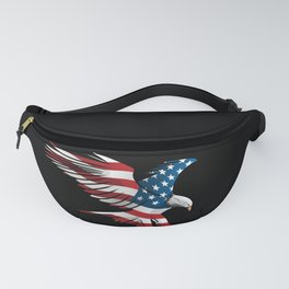 Patriotic Flying American Flag Eagle Fanny Pack
