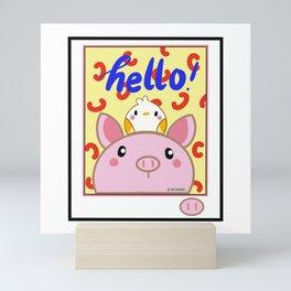 Piggly and Burb Mini Art Print
