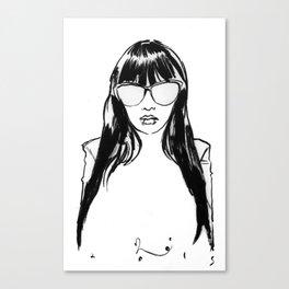 ms. shock & p0p Canvas Print