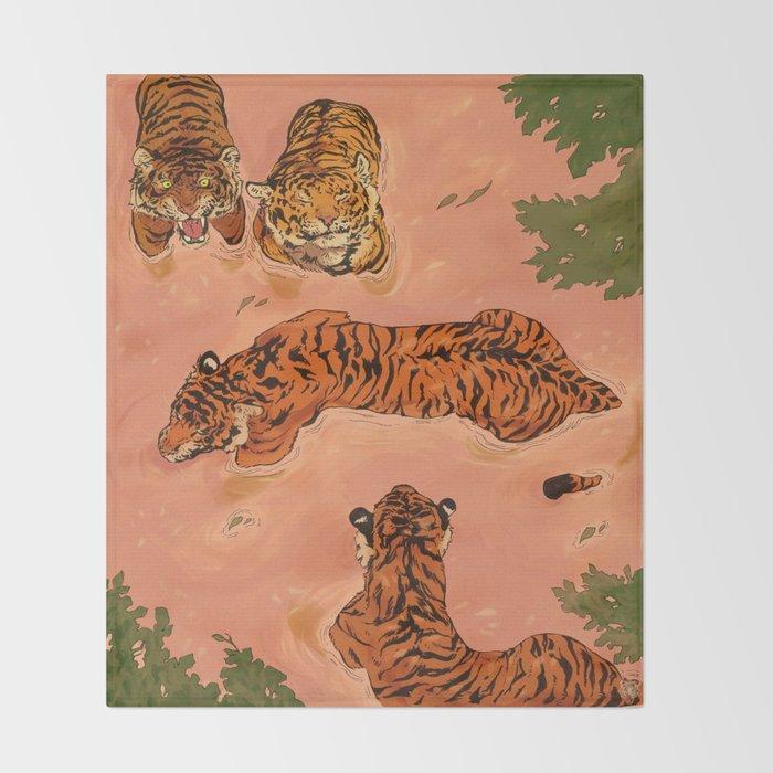 Tiger Beach Throw Blanket