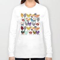 cincinnati Long Sleeve T-shirts featuring Cincinnati Chickens red by Sharon Turner