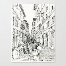 Via S. Lorenzo, Genova Canvas Print